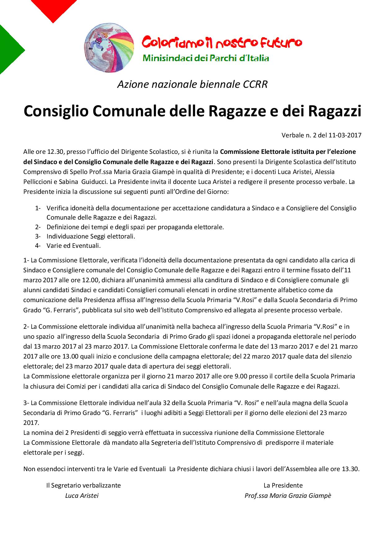 Verbale Commissione CCRR